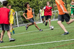 Young Learners playing football